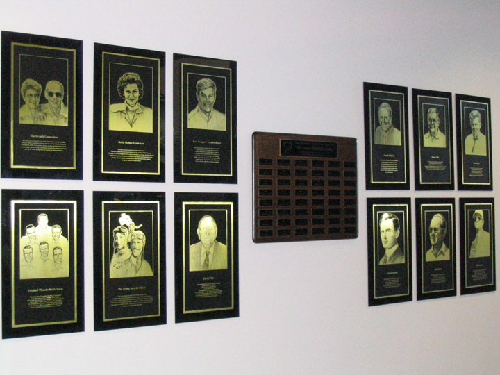 HOF Plaques at Frontiers of Flight